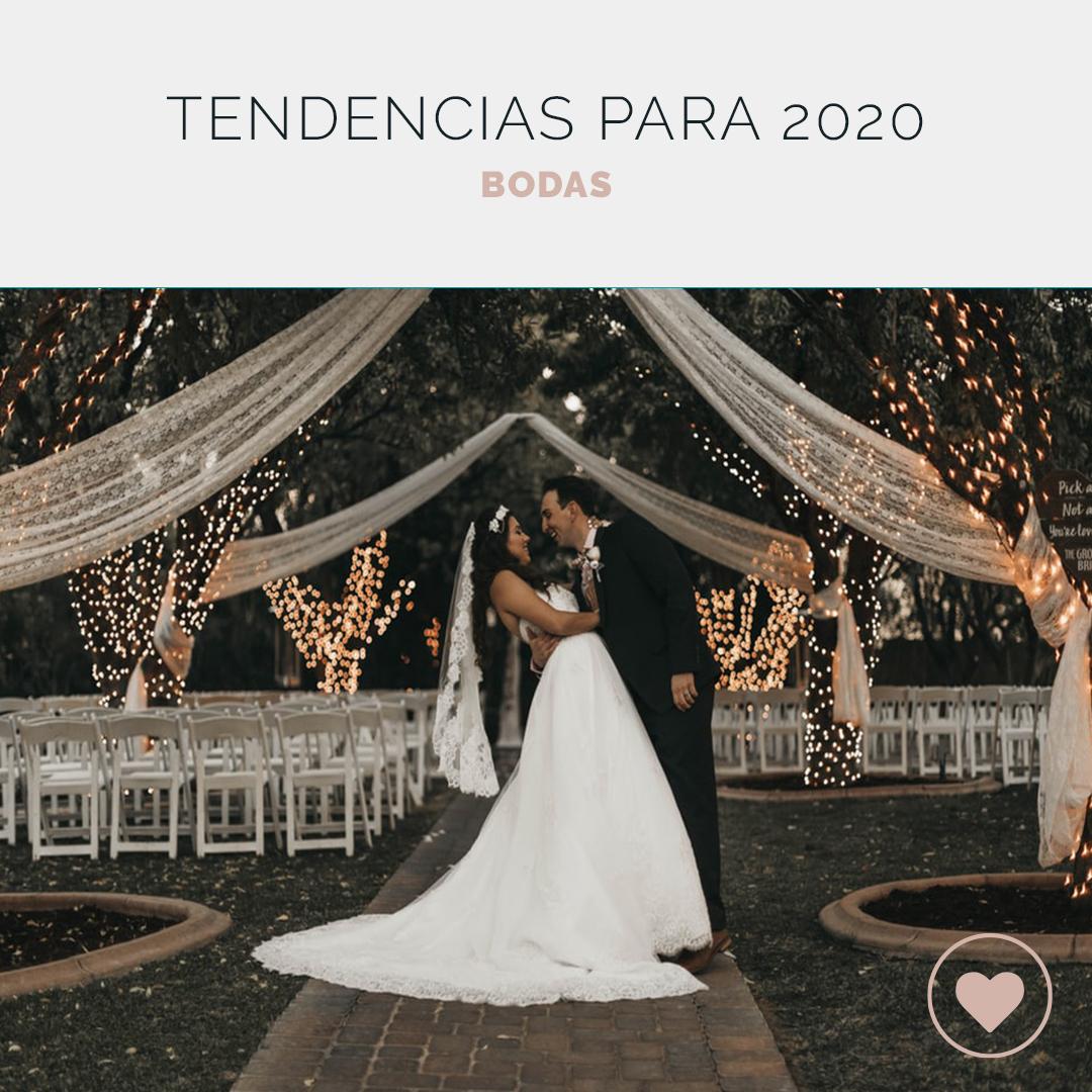 Tendencias para bodas 2020