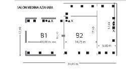 Plano Sala Medina Azahara B3 en Parador de Córdoba