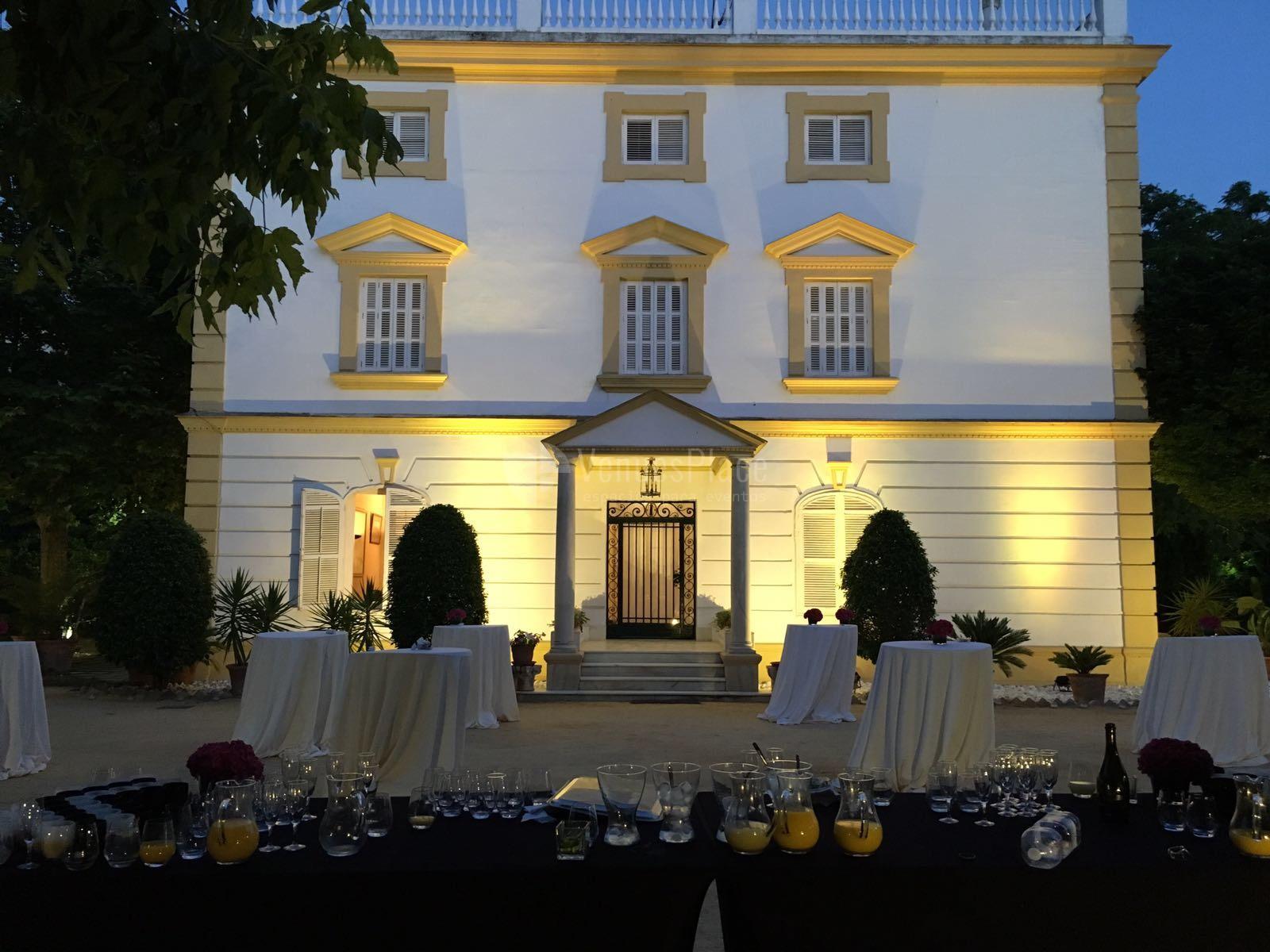 Montaje eventos nocturnos en Casa Sotohermoso