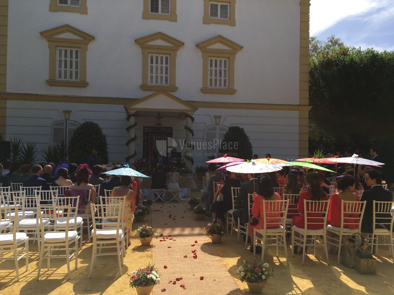 Montaje para boda civil en Casa Sotohermoso