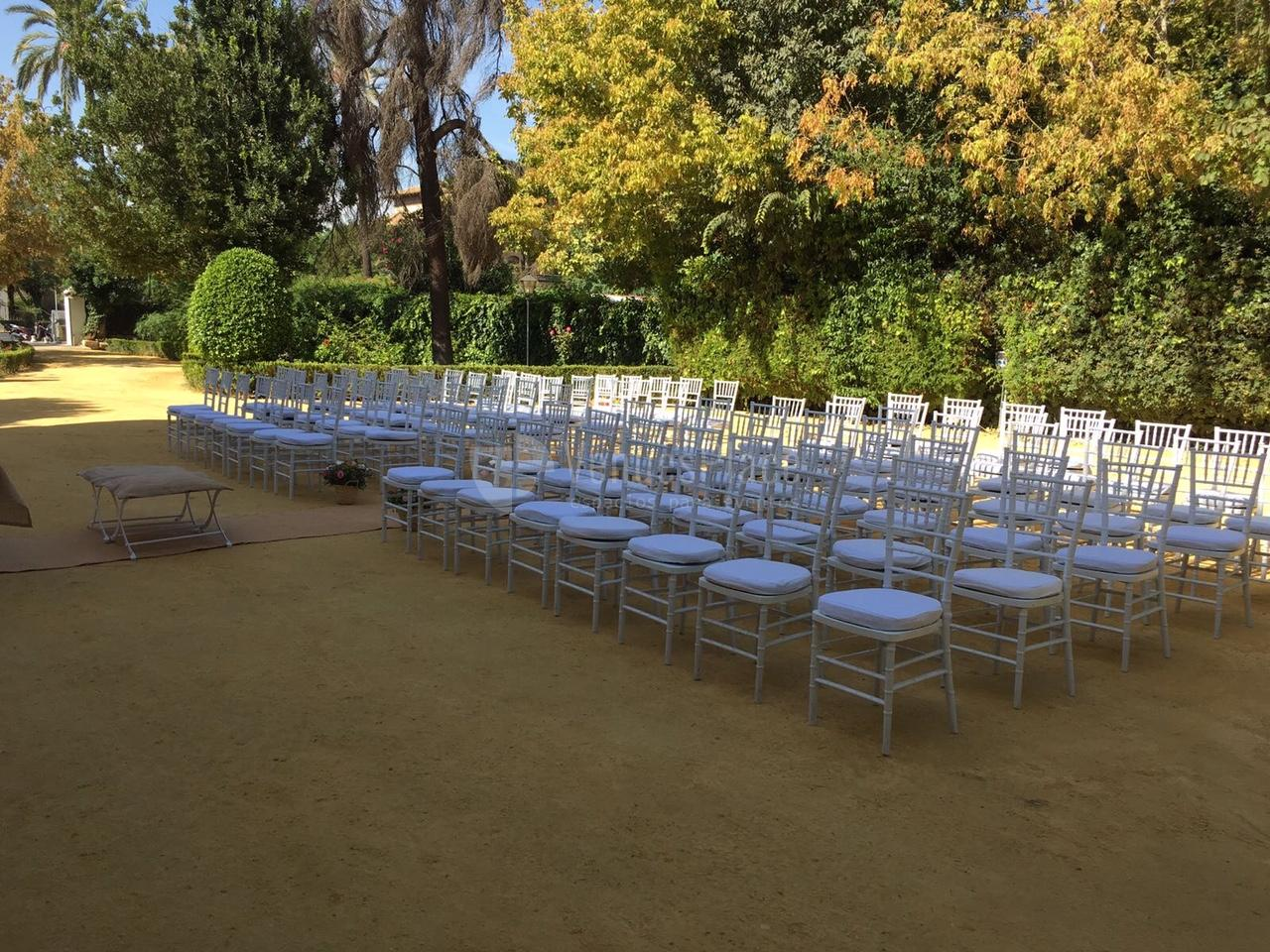 Montaje evento en exterior en Casa Sotohermoso