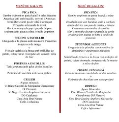 Menú de gala 55 euros
