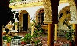 Finca Santa Sofía y un patio clásico y florido