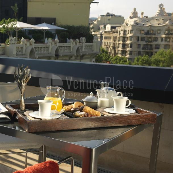 Terraza Executive room en Hotel Condes de Barcelona****
