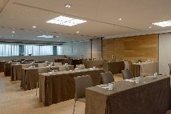 Montaje escuela  Salón BURDEOS-ÁMBAR en HOTEL CONDES DE BARCELONA