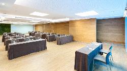 Montaje escuela Salón TURQUESA-LIMA en HOTEL CONDES DE BARCELONA