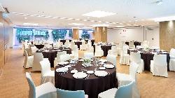 Montaje banquete Salón BURDEOS-ÁMBAR en HOTEL CONDES DE BARCELONA
