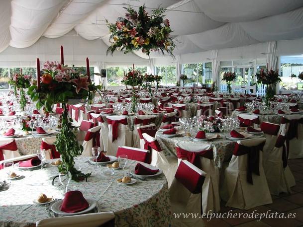 Decoración floral en Finca El Tomillar