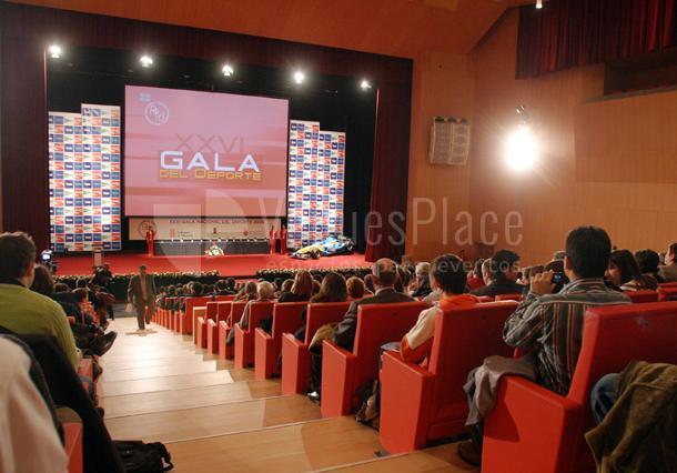 Montaje en el auditorio evento de empresa en Baluarte Palacio de Congresos y Auditorio de Navarra