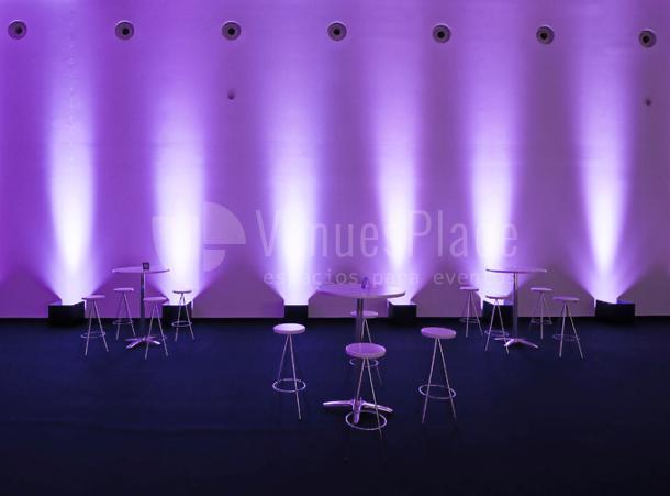 Montaje cóctail eventos de empresa en Baluarte Palacio de Congresos y Auditorio de Navarra