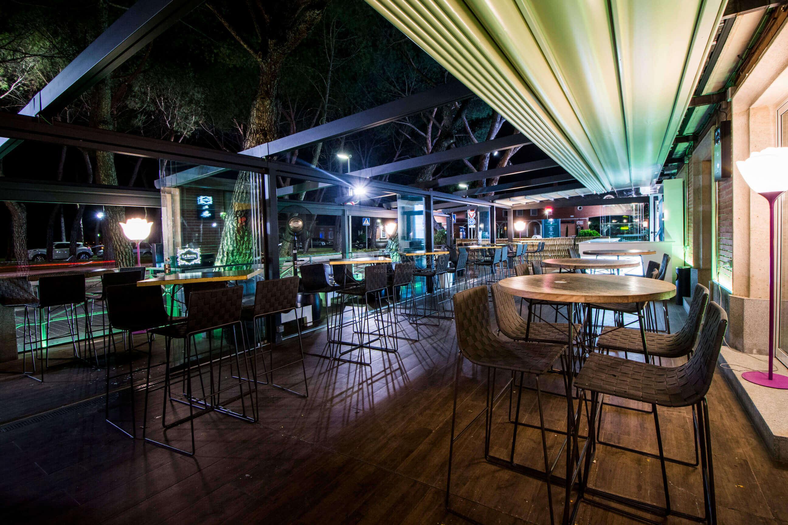 La butiq chill out terraza grupo la m quina eventos for El jardin de la maquina pozuelo