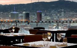Vistas desde el Restaurante Òleum en MNAC Museu Nacional d'art de Catalunya