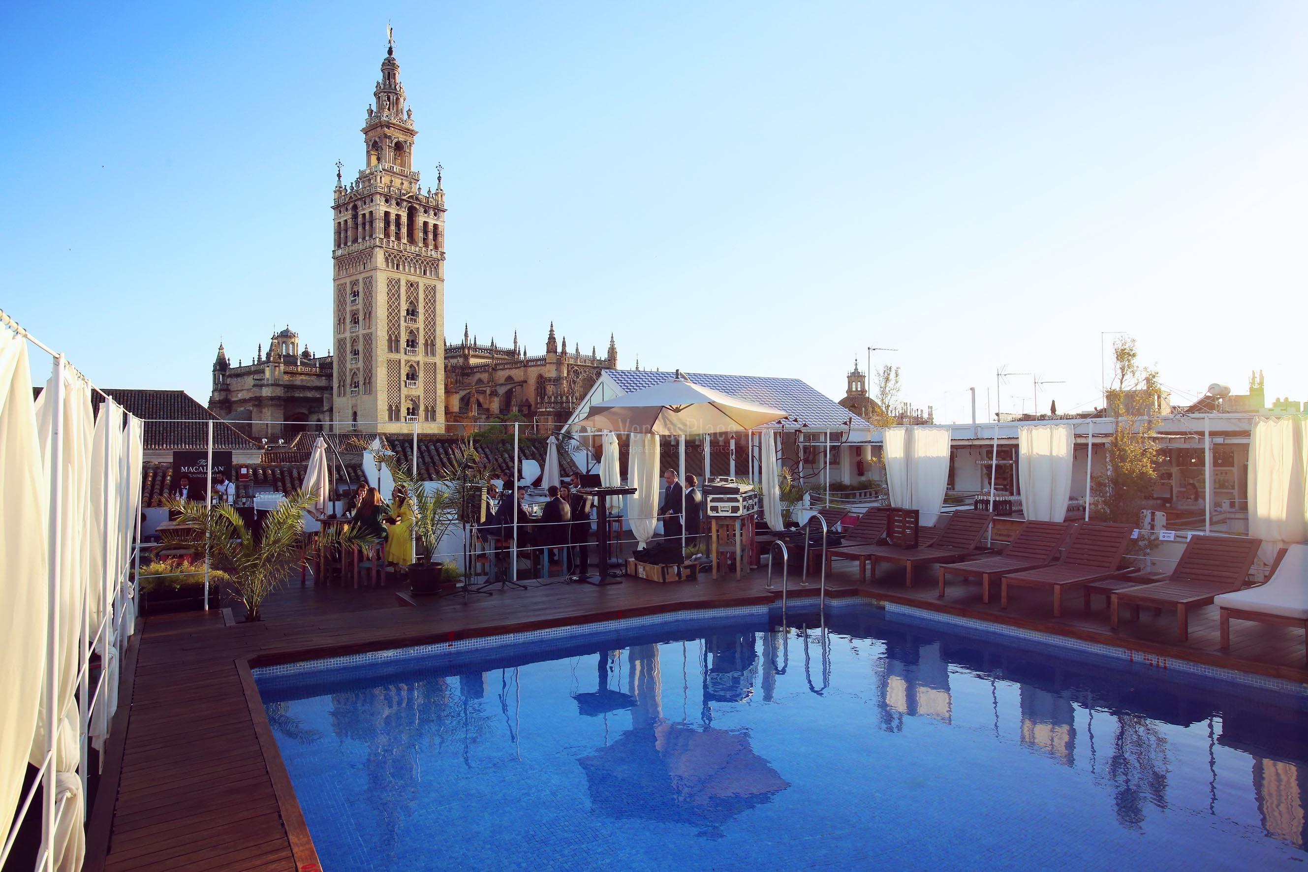 Piscina para eventos en Hotel Los Seises by Fontecruz