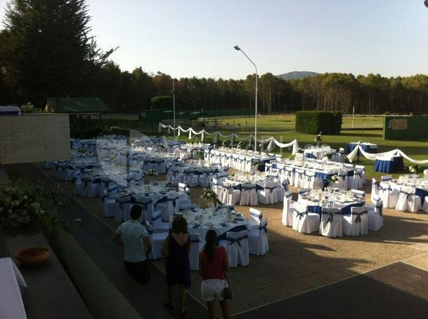 Restaurante Club de Tiro Pichón montaje banquete de boda