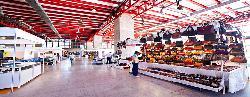 Montaje feria de empresa en el  Pabellón de Cristal (Madrid Destino)
