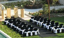Ceremonias en el precioso jardín de Hotel Alimara