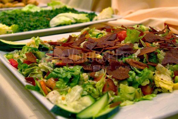 Gran variedad de ensaladas del Restaurante Shukran