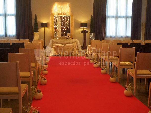 Montaje boda civil en Hacienda La Biznaga