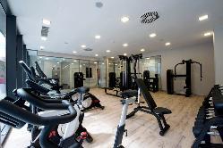 Zona fitness en Hotel & Spa Ciudad de Binéfar
