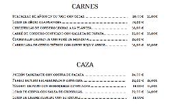 CARNES Y CAZA en RESTAURANTE MESÓN EL CORREGIDOR