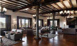 Salones decorados con muebles y suelos de madera en PARADOR DE GREDOS