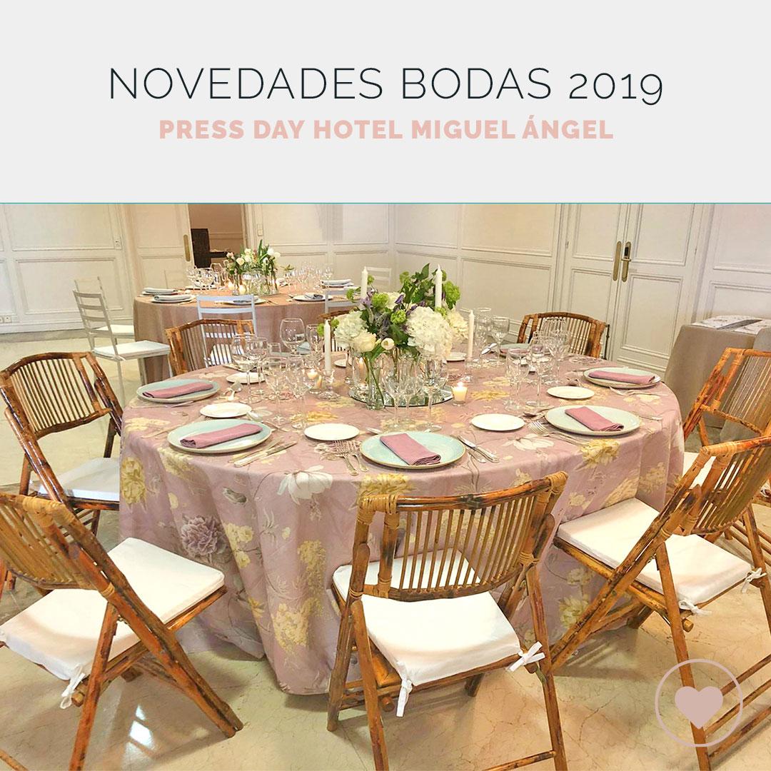 El Hotel Miguel Ángel presenta sus novedades para bodas