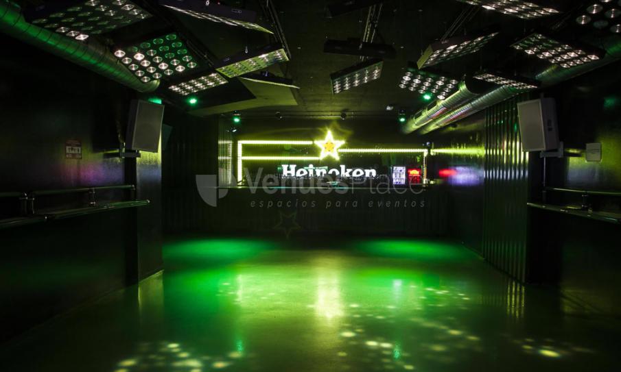 Pista de baile en sala Heineken XL Xtralrge