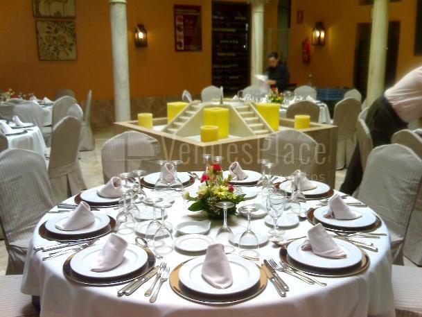Montaje en banquete en Restaurante Pando Cuna