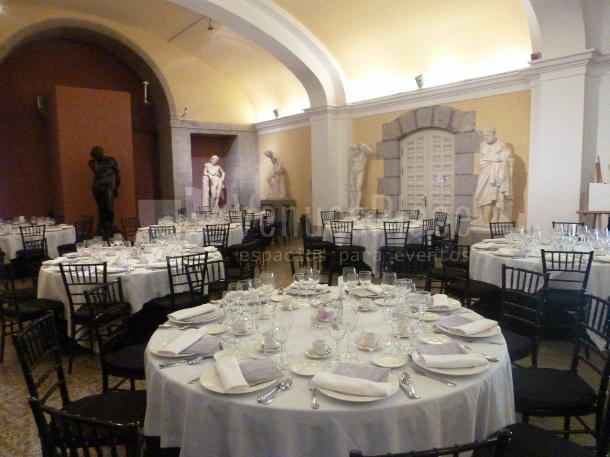Cenas de gala, fiestas privadas en La Real Academia de Bellas Artes