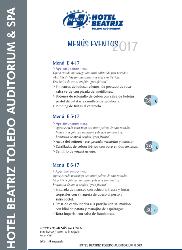 Menús eventos Hotel Beatriz Toledo Auditorium