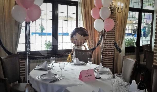 Montaje especial para comunión en Restaurante el Torreón del Pardo