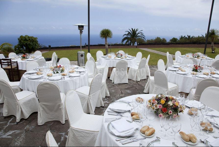 Comidas y cenas con vistas al Océano en Parador de La Palma
