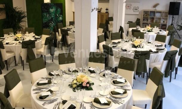 Montaje en banquete Corevents Barcelona