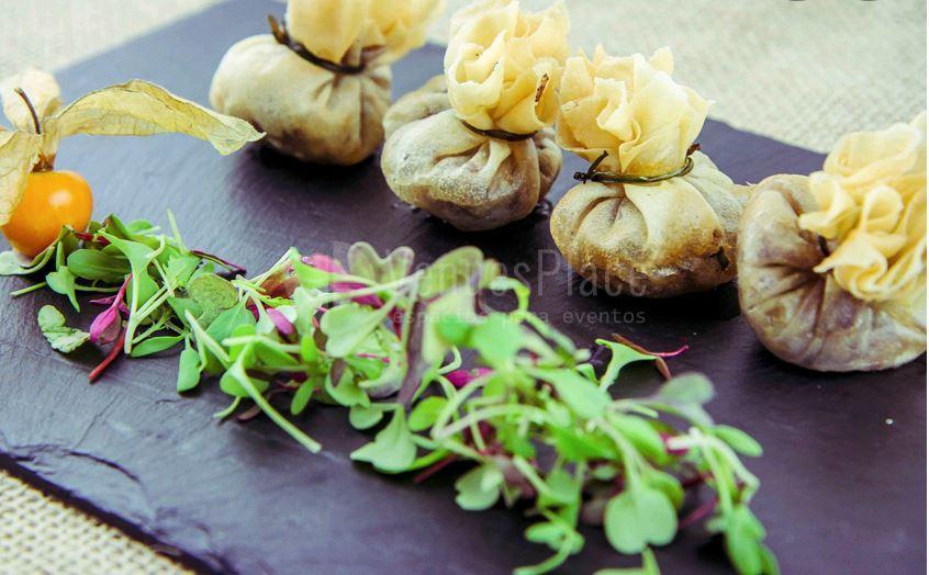 Menú para eventos en AGA Catering de Gourmet