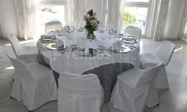 Montaje banquete en Parador de Mojácar