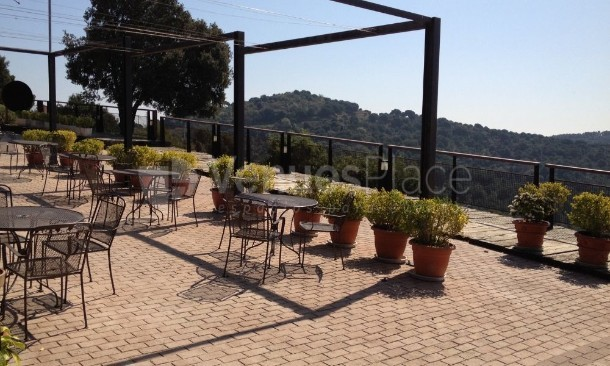 Terraza del mirador en Ideal Restaurant Collserola