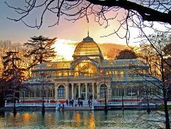 Palacio de Cristal del Retiro en Madrid-centro