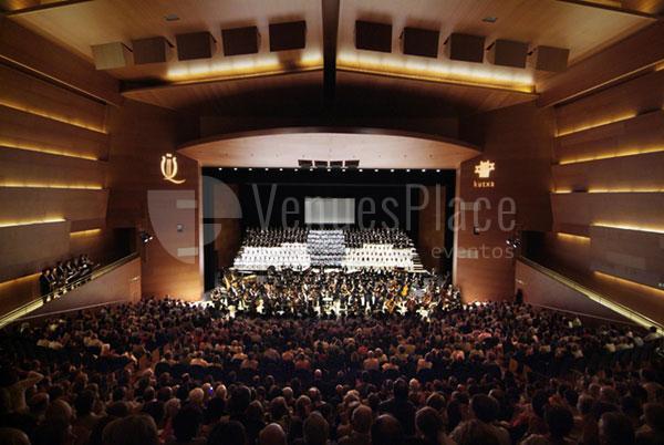 Foto escenario y auditorio del Palacio de Congresos Kursaal