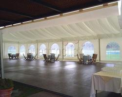 Carpa para eventos de empresa y celebraciones privadas en Real Club Sevilla Golf