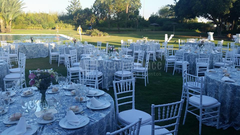 Montaje en exterior Real Club de Sevilla Golf (Catering ACS)