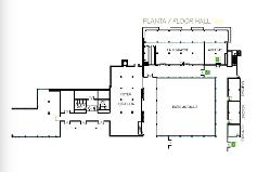 Plano Salas Hall