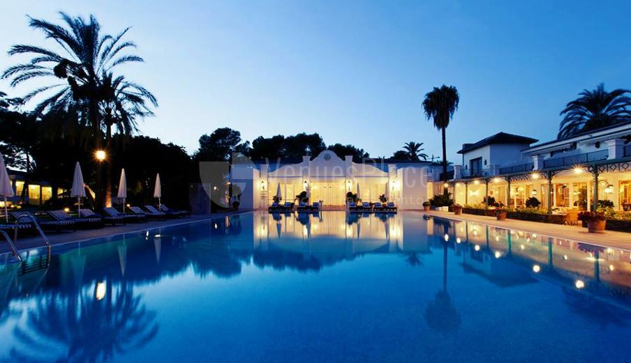 Piscina para eventos en Hotel los Monteros