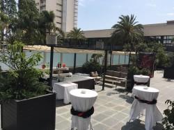 Terraza montaje cóctel Eurohotel Diagonal Port Barcelona