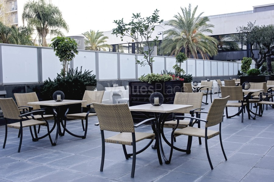 Amplia terraza en el Eurohotel Barcelona