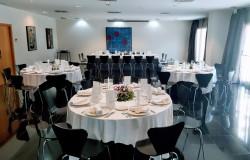Nonell montaje banquete en Eurohotel Diagonal Port