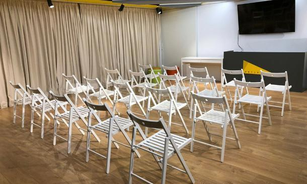 Montaje sala M en Artspace Barcelona