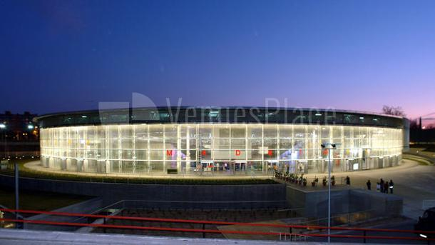 Exterior fachada del Pabellón Multiusos I - Madrid Arena eventos de empresa y deportivos