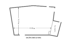 Plano salón Cabo de La Nao Parador de Jávea
