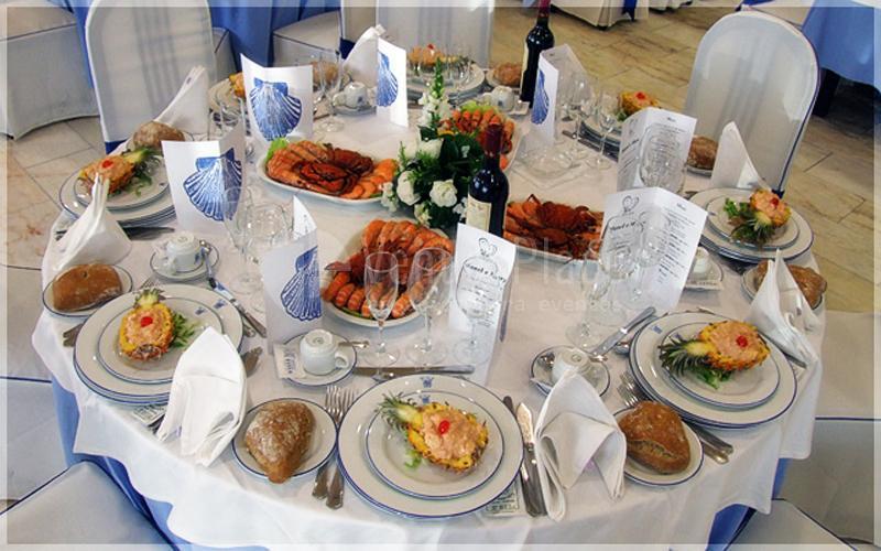 Montaje de banquete del Hotel Scala