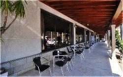 terraza exterior del Hotel Scala